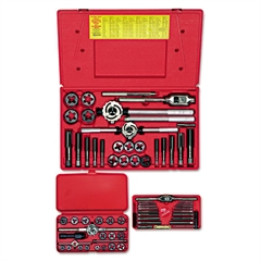 HANSON Tap & Die Set, Steel, 66 Pieces