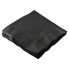 Hoffmaster Beverage Napkins, 2-Ply, 9 1/2 x 9 1/2, Black, 1000/Carton