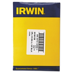 """IRWIN Black and Gold HSS Fractional Drill Bit, 3/16"""", 135 Degrees"""