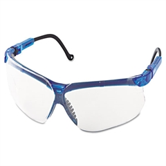 Genesis Shooting Glasses, Vapor Blue Frame, Clear Lens