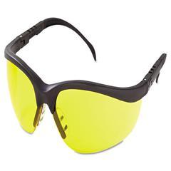 Crews Klondike Protective Eyewear, Black Frame, Amber Lens