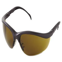 Crews Klondike Protective Eyewear, Black Frame, Brown Lens