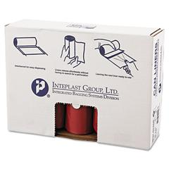 Inteplast Group Low-Density Can Liner, 40 x 46, 45gal, 1.3mil, Red, 20/Roll, 5 Rolls/Carton