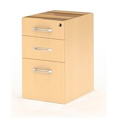 Suspended Desk PBF Ped, Maple Tf Laminate