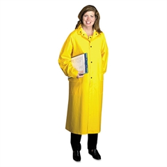 Anchor Brand Raincoat, PVC/Polyester, Yellow, Size X-Large