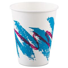 Jazz Paper Hot Cups, 8oz, Polycoated, 50/Bag, 20 Bags/Carton