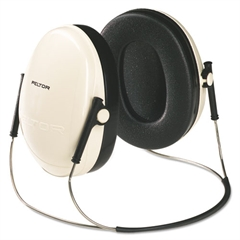 3M E·A·R Peltor OPTIME 95 Behind-The-Head Earmuffs, 21NRR, Beige/Black
