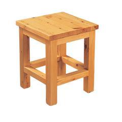 "AB4407 10""x10"" Square Wooden Bench/Stool Multi-Purpose Accessory"