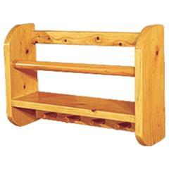 "AB5508 18"" Wall Mounted Wooden Shelf & Hooks Bathroom Accessory"