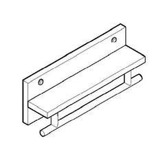 "AB5511 16"" Wooden Shelf with Chrome Towel Bar Bathroom Accessory"
