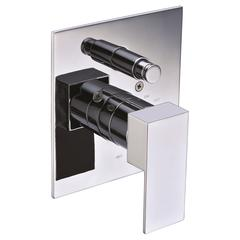 AB6801-PC Polished Chrome Modern Square Pressure Balanced Shower Mixer with Diverter