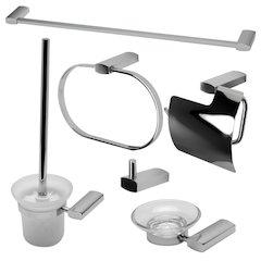 ALFI brand AB9503-PC Polished Chrome 6 Piece Matching Bathroom Accessory Set