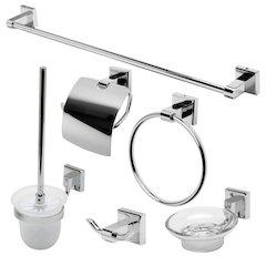 ALFI brand AB9509-PC Polished Chrome 6 Piece Matching Bathroom Accessory Set