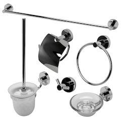 ALFI brand AB9513-PC Polished Chrome 6 Piece Matching Bathroom Accessory Set