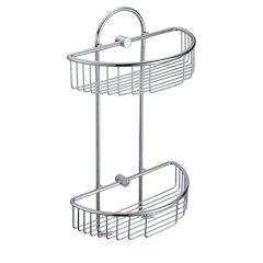 ALFI brand AB9534 Polished Chrome Wall Mounted Double Basket Shower Shelf Bathroom Accessory