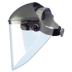 "High Performance Face Shield Assembly, 7"" Crown Ratchet, Noryl, Gray"