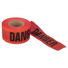 """Danger Barrier Tape, 3 in x 1000ft, """"Danger Do Not Enter"""" Text"""
