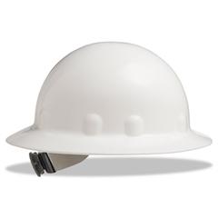 E-1 Full Brim Hard Hat With Ratchet Suspension, White