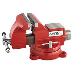 "Wilton Vise, Cast Iron, Utility, 7 1/2"" Jaw Opening, 8"" Jaw Width, 86.2 Pounds"