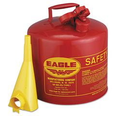 Safety Can, Type I, 5gal, Red, With F-15 Funnel
