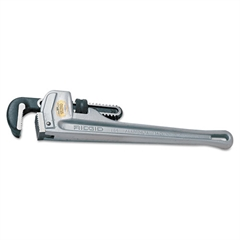 "818 Aluminum Straight Pipe Wrench, 18"" Tool Length, 2 1/2"" Jaw Capacity"