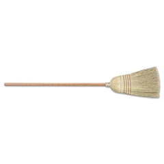 Warehouse Broom, Corn/Sotol Bristles, Wood Handle, Yellow