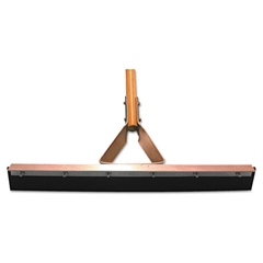 "Straight Squeegee with Steel Bracket Handle, 24"" Blade"