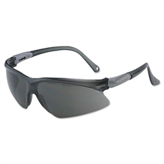 KIMBERLY-CLARK PROFESSIONAL JACKSON SAFETY V20 Visio Safety Glasses, Silver Frame, Smoke Lens