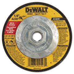 "DeWalt DW4523 High-Performance Metal-Grinding Wheels, Type 27, 4-1/2"" x 1/4"""