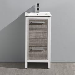 """Fresca Allier Rio 16"""" Ash Gray Modern Bathroom Cabinet"""