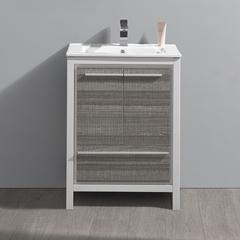 """Fresca Allier Rio 24"""" Ash Gray Modern Bathroom Cabinet"""