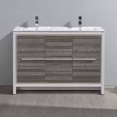 """Fresca Allier Rio 48"""" Ash Gray Single Sink Modern Bathroom Cabinet"""