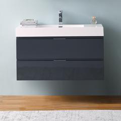"""Fresca Valencia 42"""" Dark Slate Gray Wall Hung Modern Bathroom Cabinet"""