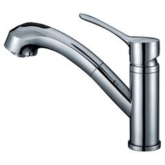 AB50 3711C Single-lever pull-out spray kitchen faucet, Chrome