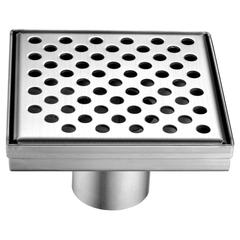 """LRE050504 Rhone River Series - Square Shower Drain 5""""L (Stamping technique & press in the base)"""