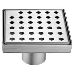 "LTS050504 Thames River Series - Square Shower Drain 5""L (Stamping technique & press in the base)"