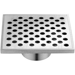 "SRE050504 Rhone River Series - Square Shower Drain 5""L Threaded"