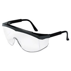 Crews Blackjack Protective Eyewear, Chrome/Clear