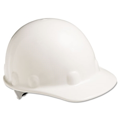 E-2 Cap Hard Hat With Ratchet Suspension, White