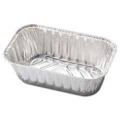 Aluminum Baking Pan, #1 Loaf, 5 23/32 x 3 5/16 x 2 1/32, 200/Carton