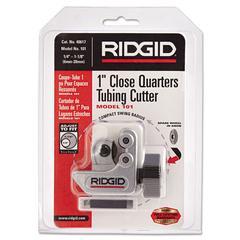 "RIDGID Model 101 Close Quarters Tubing Cutter, 2 1/2"" Tool Length, 1/4-1 1/8"" Cut Cap."