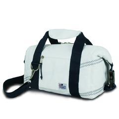 Newport Insulated 8-Pack CoolerBag, white w/blue trim