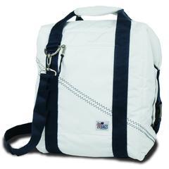 Newport Insulated 24-Pack CoolerBag, white w/blue trim