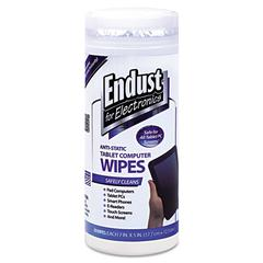 Tablet and Laptop Cleaning Wipes, Unscented, 70/Tub