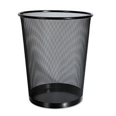 Universal Mesh Wastebasket, 18qt, Black