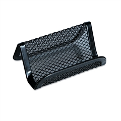 Universal Mesh Metal Business Card Holder, 50 2 1/4 x 4 cards, Black