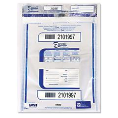 Triple Protection Tamper-Evident Deposit Bags, 20 x 28, Clear, 100/Carton