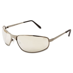 Uvex Tomcat Safety Glasses, Gun Metal Frame, Silver Mirror Lens