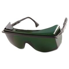 Uvex Astro OTG 3001 Safety Glasses, Black Frame, Shade 5.0 Lens