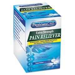 PhysiciansCare Extra-Strength Pain Reliever, Two-Pack, 50 Packs/Box